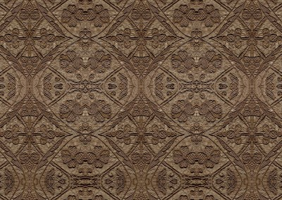 """Silk Embroidered Linen (TE9384B) : Wall covering pattern based on 16th century linen, embroidered with silk. Repeat @ 75%,  = 72"""" x 90"""". © 2014 Doug Garrabrants"""