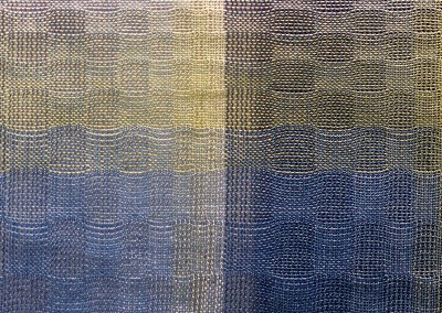 """Escher (DE9444)-Detail : For the hand woven look of an upholstered wall, Escher come in several color ways. The repeat is 28"""" x 19"""" with each rectangle approximately 7"""" x 9.5"""". © 2014 Doug Garrabrants"""