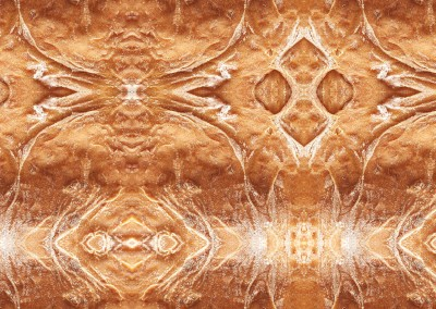 Southwestern Spun (Bread-9) : Wallpaper pattern created from a close up photo of a fresh cooked loaf of bread. © Doug Garrabrants 2011