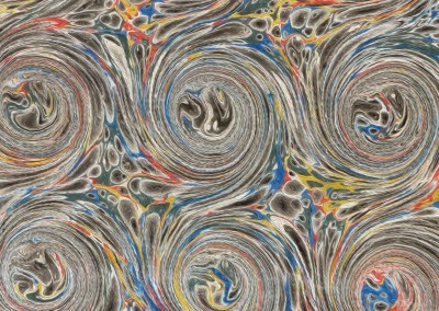 "Ink Swirl (DE4690)-Detail : In the Florentine tradition of paper marbling, this large scale pattern can have each swirl up to 5.5"" and a repeat of 4' 7"""" x 3' 7""."