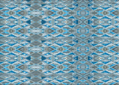 "Diamond Blue Glass (DE9054H) : Wallpaper Pattern created from Blue Glass, Repeat 52""w x 31.75""h max.   © Doug Garrabrants 2014"