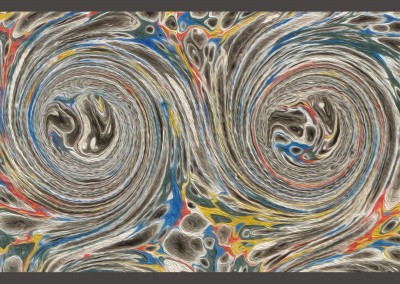 "Ink Swirl (DE4690)-MoreDetail : In the Florentine tradition of paper marbling, this large scale pattern can have each swirl up to 5.5"" and a repeat of 4' 7"""" x 3' 7""."