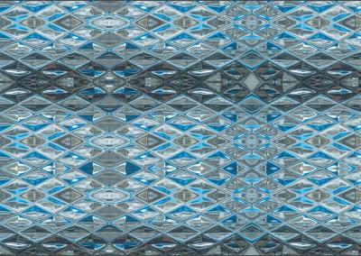 "Diamond Blue Glass (DE905D4)-Variation : Wallpaper Pattern created from Blue Glass, Repeat 52""w x 31.75""h max.   © Doug Garrabrants 2014"