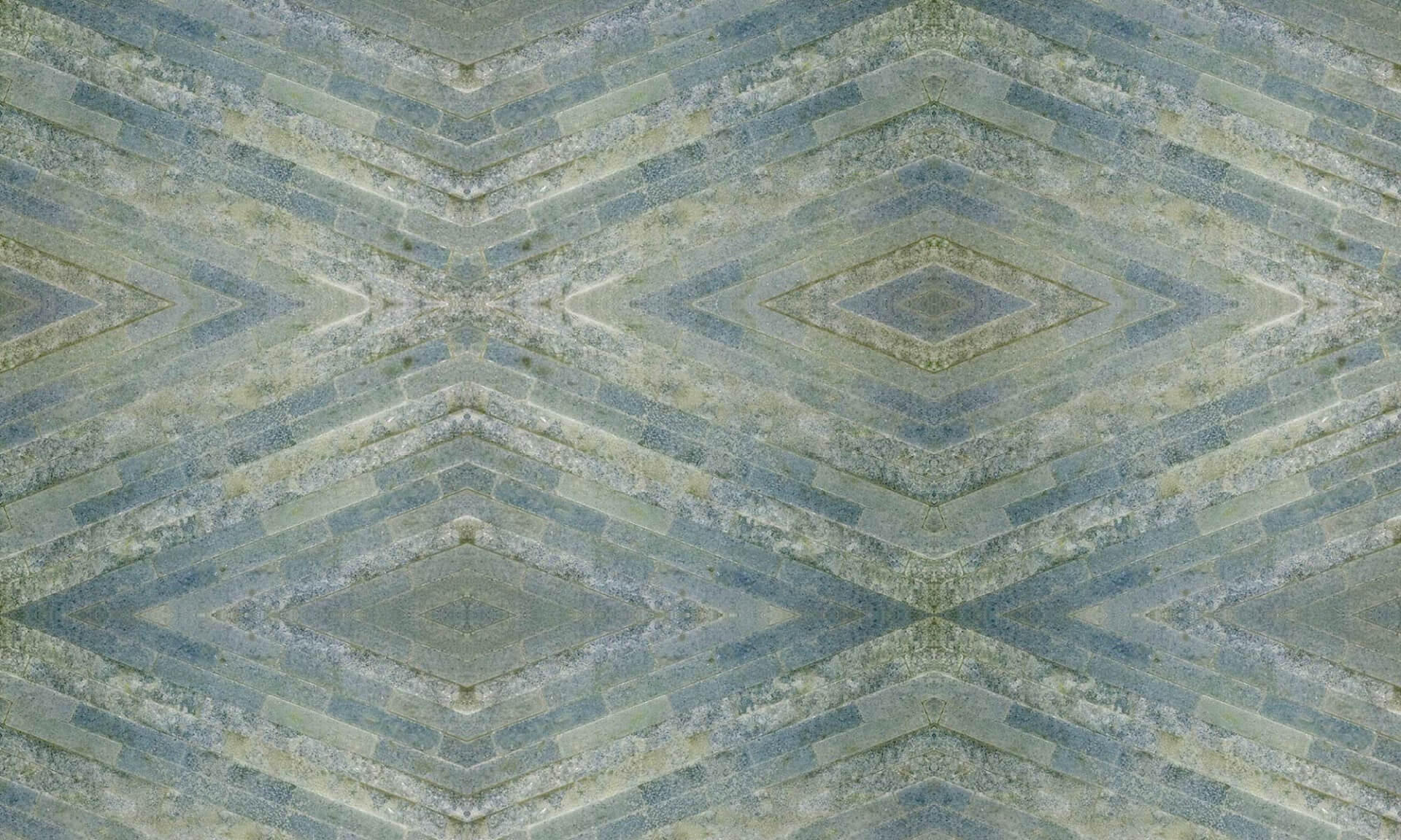 Stone Tile Diamonds (Blue Green Tile Diamonds) Doug Garrabrants