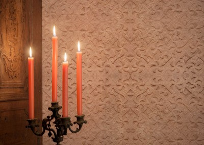 "Transenna (ST3716) : Wallpaper pattern inspired by 9th century stone carvings. Repeat 40""w x 24""h. © 2014 Doug Garrabrants"