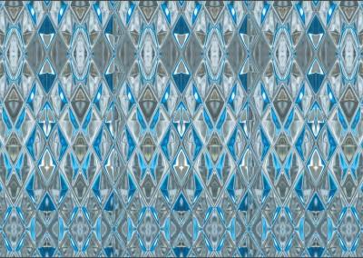 "Diamond Blue Glass (DE9054V) : Wallpaper Pattern created from Blue Glass, Repeat 52""w x 31.75""h max.   © Doug Garrabrants 2014"