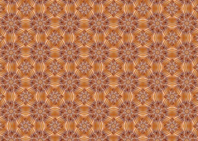 "Orange is the new Black (BA0622) : Pinwheel wallpaper pattern created from a photograph of a shell with a 7"" repeat. © 2014 Doug Garrabrants"