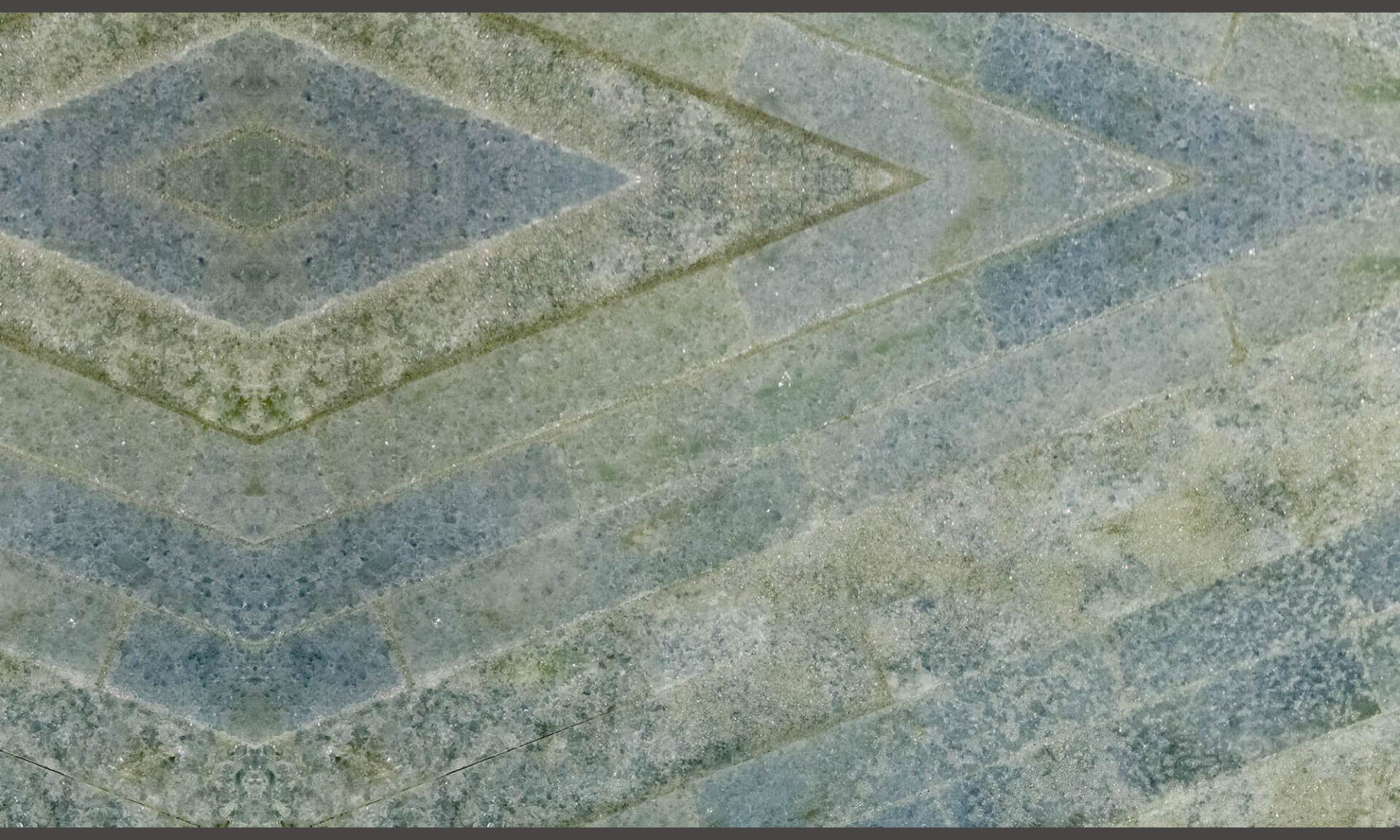 Stone Tile Diamonds (Blue Green Tile Diamonds) Doug Garrabrants