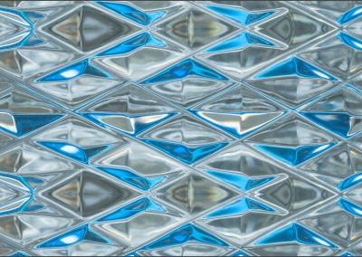 "Diamond Blue Glass (DE9054H)-Detail : Wallpaper Pattern created from Blue Glass, Repeat 52""w x 31.75""h max.   © Doug Garrabrants 2014"