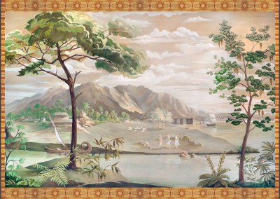 Chinoiserie Panel (La Quinta) : This Chinoiserie panel was commissioned by Jessup Design, Palm Springs, CA and was hand painted by Lena Fransioli & Brooke Sheldon. It is available in archival digital wallpaper 97x63 inches. © 2010 Doug Garrabrants