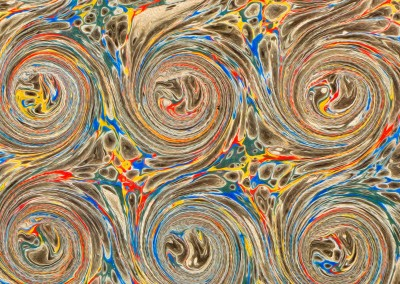 "Ink Swirl (DE4690)-Detail6 : In the Florentine tradition of paper marbling, this large scale pattern can have each swirl up to 5.5"" and a repeat of 4' 7"""" x 3' 7""."