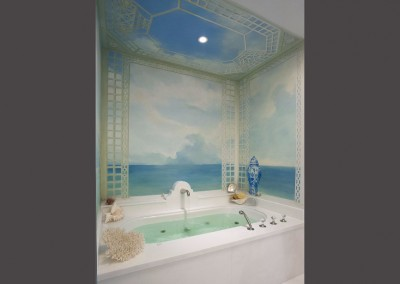 Mediterraneo - Wallpaper installation in South Beach, FL. © 2014 Doug Garrabrants