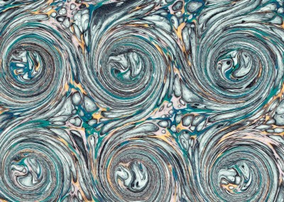 "Ink Swirl (DE4690)-Detail2 : In the Florentine tradition of paper marbling, this large scale pattern can have each swirl up to 5.5"" and a repeat of 4' 7"""" x 3' 7""."