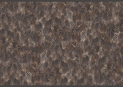 "Guinea Hen Feather (NA6255) : Wallpaper Pattern created from a Guinea Hen Feathers. Random layered repeat 41"". © 2014 Doug Garrabrants"