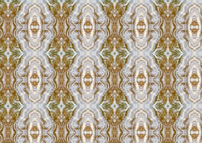 "Agate Inverted (SB1492-B) : Hand painted agate as a wallpaper pattern. 12.75"" x 12.7 repeat. © 2005 DOUG GARRABRANTS"