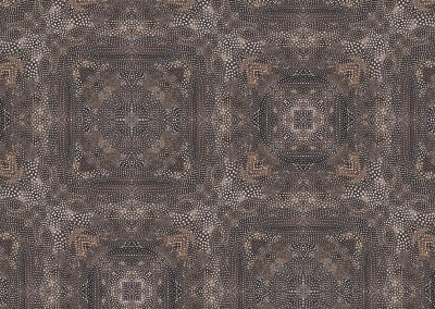 "Guinea Hen Feather (NA6255) : Wallpaper Pattern created from a Guinea Hen Feathers. Patterned repeat 28"". © 2014 Doug Garrabrants"