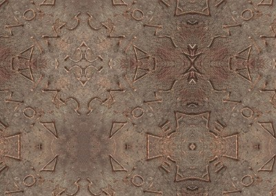 "Symbols (DE9948) : Wallpaper pattern made up of symbols. Repeat max. 24"" x 31.5"". © 2014 Doug Garrabrants"