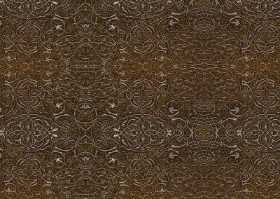 "15th Century Metal Work (DE9602) : This pattern is based on medieval Ottoman design, metal work. Max. repeat 18.5"" x 10.25"".  © 2014 Doug Garrabrants"