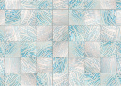 Art_Deco_Blue_Glass (DE4249)-Square : Wallpaper Pattern created from Blue Glass, Repeat 18w x 24.29h.