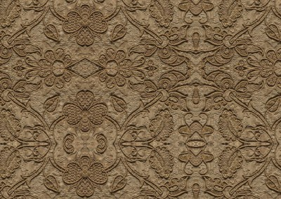 "Silk Embroidered Linen (TE9385) : Wall covering pattern based on 16th century linen, embroidered with silk. Repeat @ 75%,  = 72"" x 90"". © 2014 Doug Garrabrants"