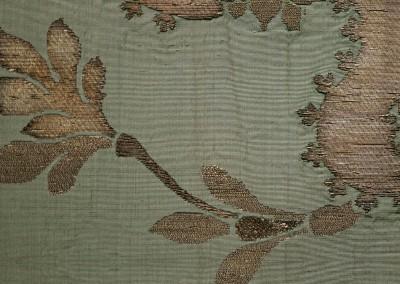 "Lidia Silk Brocade (Detail) : Wallpaper inspired by 17th century silk with metal thread brocade. 67"" max repeat. © 2014 Doug Garrabrants"