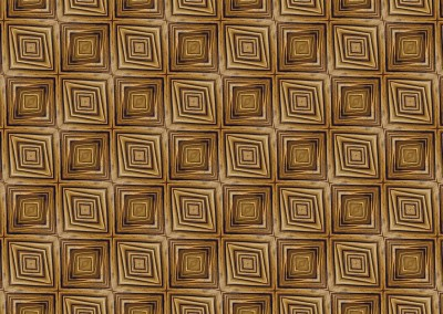 "Wacky Wood Paneling (DE0594)-Square : Wood Paneling in the style of a Tim Burton movie. Available in squares, diamonds or rectangles up to 9.5"" per panel.  © 2015 DOUG GARRABRANTS"