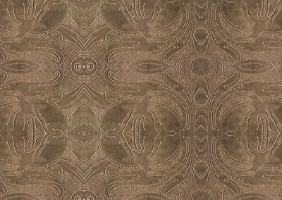 "Tooled Leather (DE9968) : Art Nouveau pattern in tooled leather. Available in up to a 68.5"" x 30"". © 2014 Doug Garrabrants"