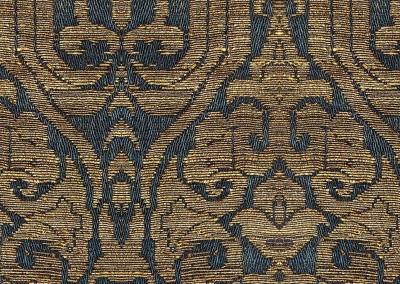 """Textile (DE2758)-Detail : Giclée wallpaper reproduction based on 13th -  14th century Persian textile. Repeat 15.5""""w x 21.3""""h. © 2014 Doug Garrabrants"""