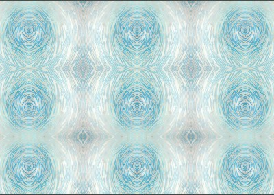 Art_Deco_Blue_Glass (DE4249)-Swirl : Wallpaper Pattern created from Blue Glass, Repeat 18w x 24.29h.