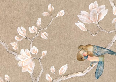 Hand Painted Chinoiserie Wallpaper