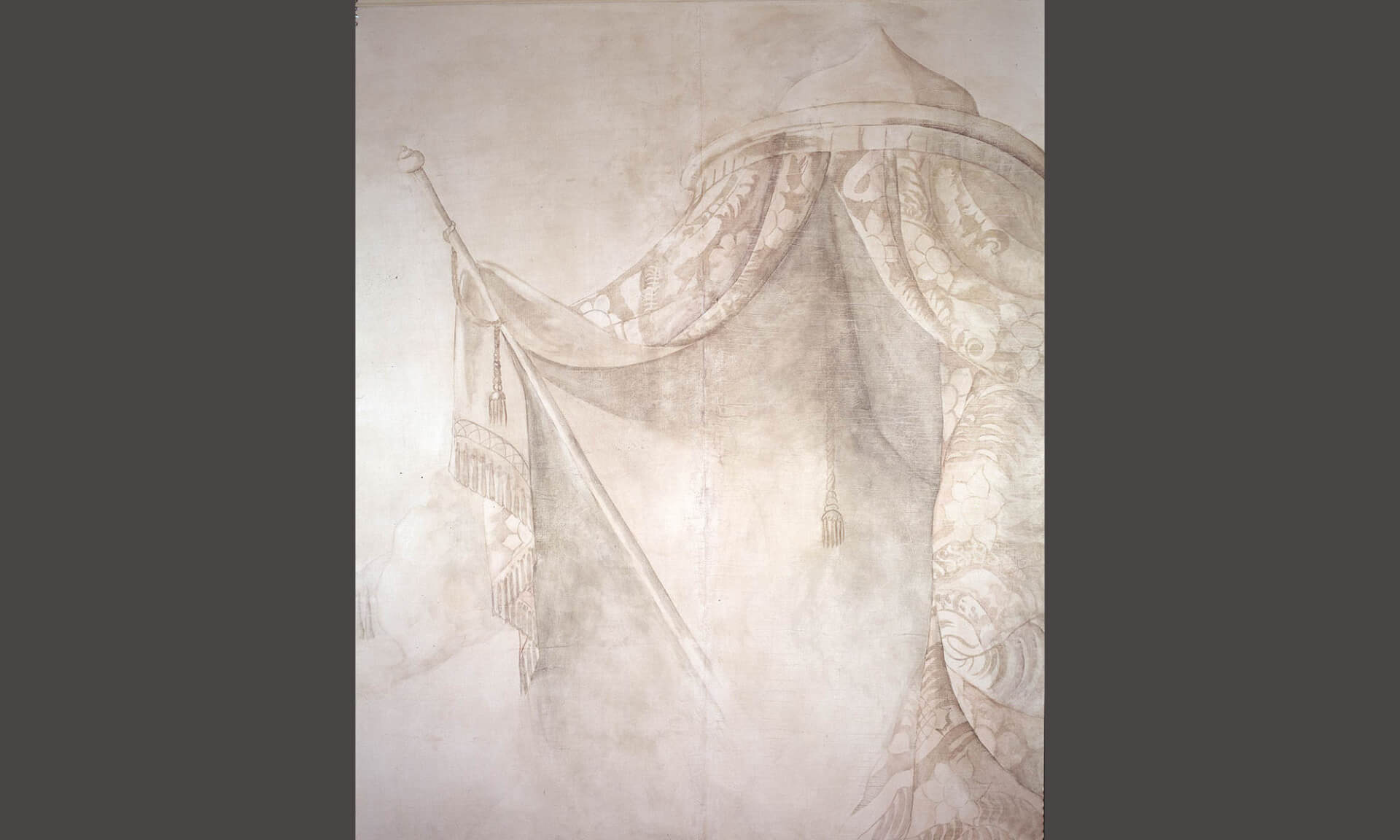 """Grisaille Tent """"Detail of Cracks"""" Lena Fransioli & Doug Garrabrants"""