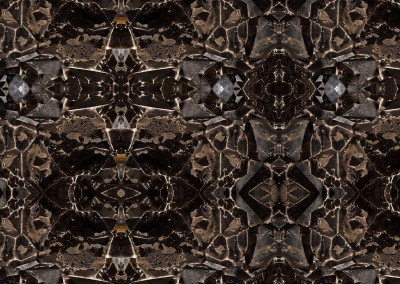 "Meteor (ST0461) : Exotic wall covering pattern created from the polished stone and metal interior of a meteor. Repeat 19"" x 12.5"". © 2015 Doug Garrabrants"
