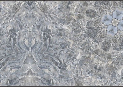 "Ice Flowers (NA3272-Oct)-Detail : Ice on the Ipswitch River shaped into a pattern of octagons  Repeat 32.5"" x 36"". Repeat 25.75"" x 16.4"". © 2013 Doug Garrabrants"