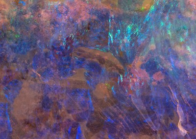 "Nebula Rock (DE9666)-Detail : Colorful ""nebula"" like wallpaper pattern made from a polished rock. Repeat 67.2"" x 44.8"". © 2014 Doug Garrabrants"
