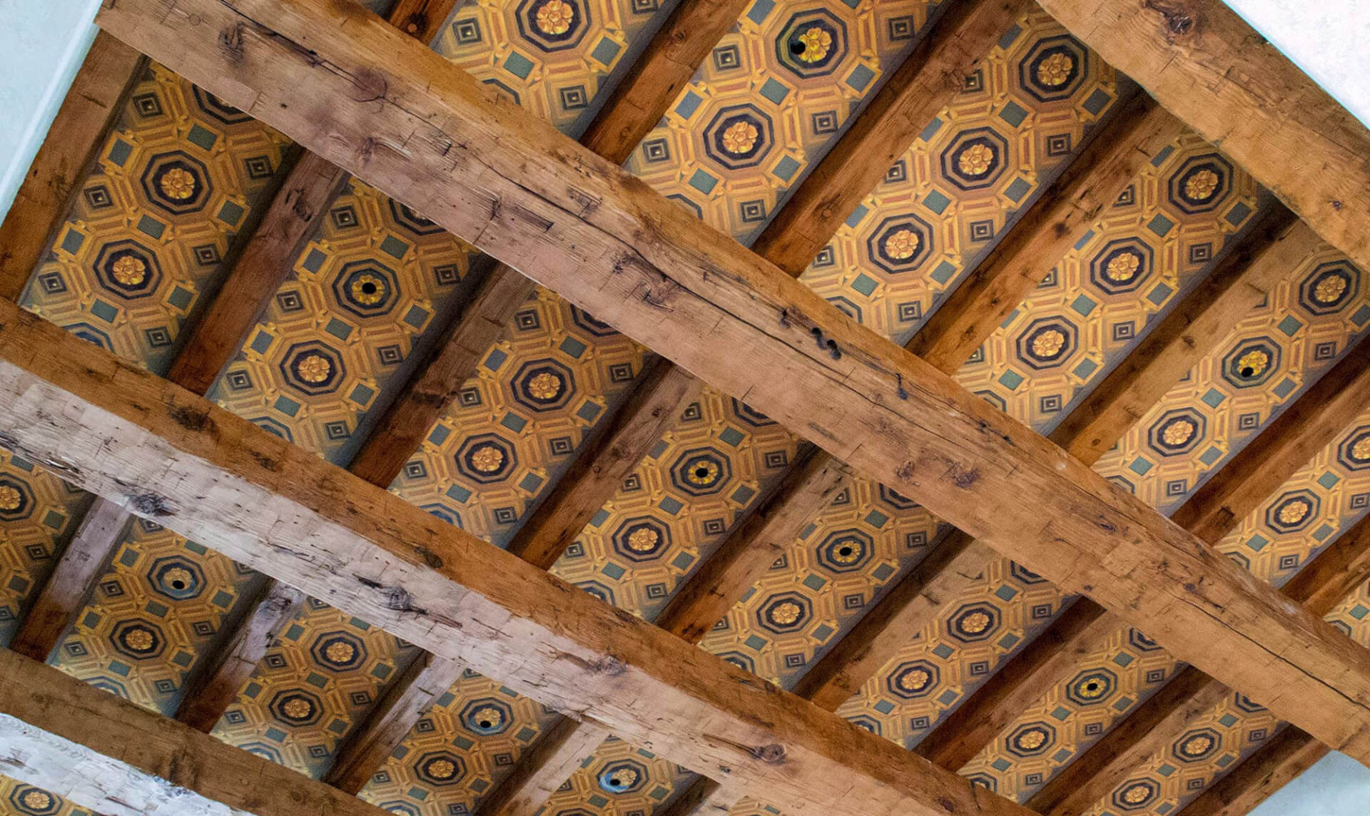 Hand Painted Ceiling Lena Fransioli & Doug Garrabrants