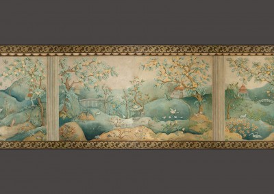 "Ozz-Chinois : This Chinois mural is 55' 3' x 89"" and is available in archival giclée wallpaper. © Doug Garrabrants 2010"
