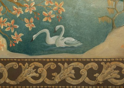 "Ozz-Chinois - Detail Swan : This Chinois mural is 55' 3' x 89"" and is available in archival giclée wallpaper. © Doug Garrabrants 2010"