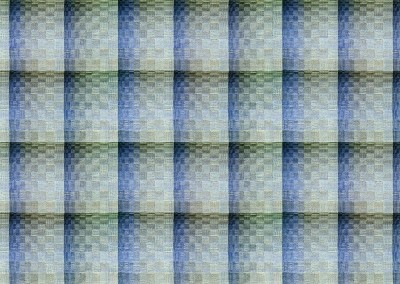 "Escher (DE9492-INV) : For the hand woven look of an upholstered wall, Escher come in several color ways. The repeat is 28"" x 19"" with each rectangle approximately 7"" x 9.5"". © 2014 Doug Garrabrants"
