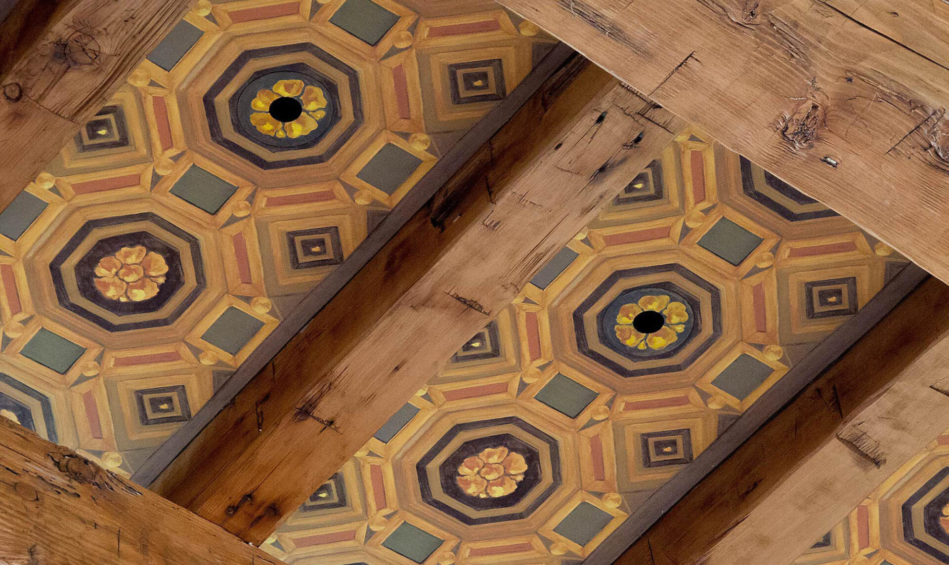Hand Painted Ceiling Lena Fransioli & Doug Garrabrants