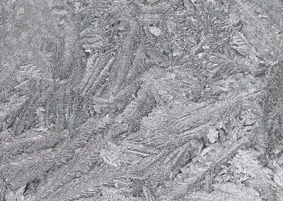 Jack Frost (NA0732)-Detail1 : Macro photograph of frost on a window enlarged to 12 feet by 8.5 feet. © 2015 DOUG GARRABRANTS