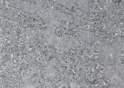 Jack Frost (NA0732)-Detail3 : Macro photograph of frost on a window enlarged to 12 feet by 8.5 feet. © 2015 DOUG GARRABRANTS