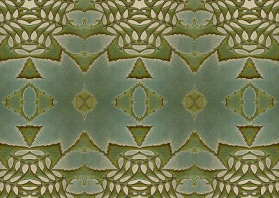 "Woodland 3 (Detail) ;  Green and yellow organic pattern inspired by nature. This wallpaper looks best at 33% with a 12"" x 27"" repeat. © Doug Garrabrants"