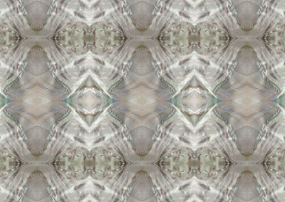 "Mother-of-Pearl (NA8834) : Mother of pearl inlay pattern wallpaper. Standard repeat @40% 26""x30"", max. 65""x76"". © 2014 Doug Garrabrants"