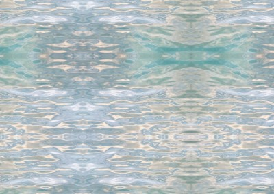 """Watermark (NA0561H) : Water can create some dazeling patterns and colors. With """"watermark"""" I use reflections on water to create the patterns and colors of silk in a large scale."""
