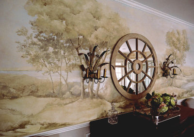 Collins Dining Room Grisaille Mural Detail