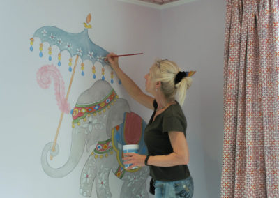 Lena paints Elephant