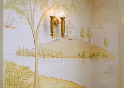 Rufus Porter style Mural-Detail