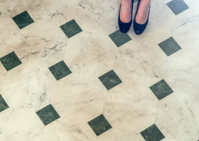 Lane Marble with Red Dress