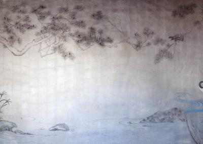 Japanese Mural on Leaf