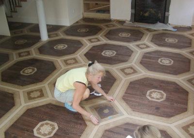Lena Paints Floor